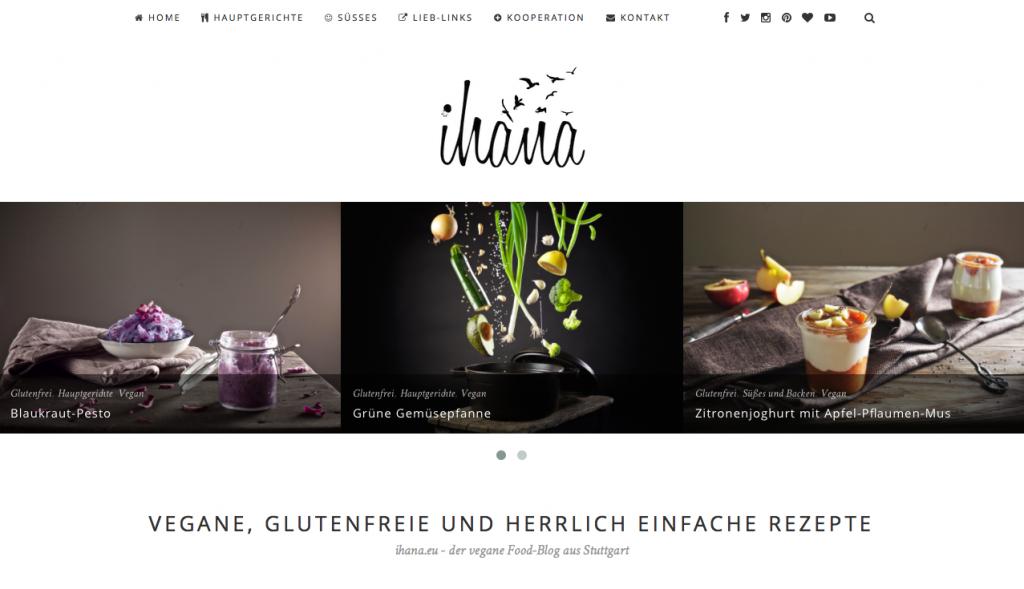 Ihana-Startseite