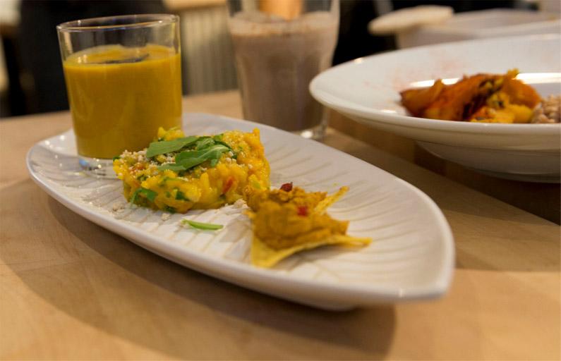 Kuerbis-Mango-Suppe